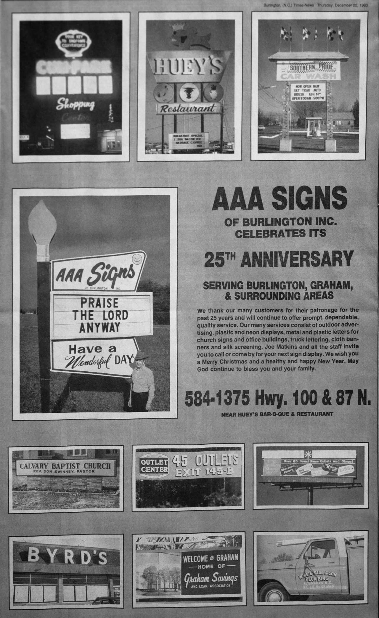 AAA Signs 25th Anniversary Newsclipping